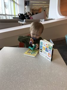 Passing the time, waiting to see the doctor...